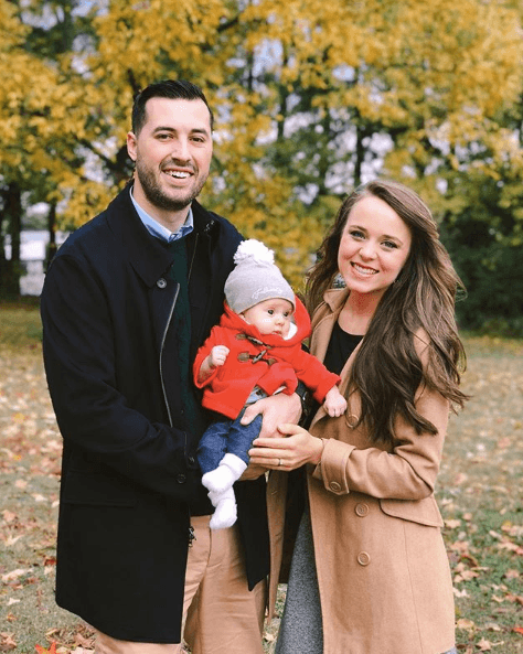 Jinger Duggar and husband Jeremy Vuolo with baby Felicity
