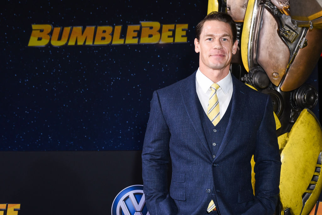 "John Cena attends the ""Bumblebee"" premiere on December 9, 2018."