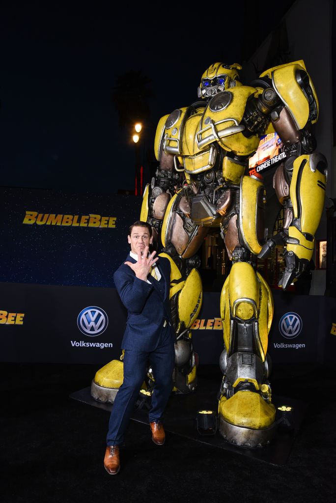 """John Cena attends Premiere Of Paramount Pictures' """"Bumblebee"""" at TCL Chinese Theatre on December 09, 2018 in Hollywood, California."""
