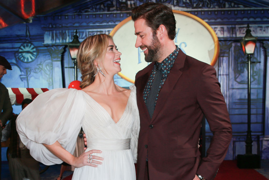 Emily Blunt (L) and John Krasinski attend the Premiere Of Disney's 'Mary Poppins Returns' at El Capitan Theatre on November 29, 2018 in Los Angeles, California.