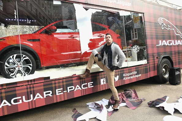 Jaguar And HGTV's Jonathan Scott Unveil First Ever Mobile Holiday Window In Celebration Of The Season on December 11, 2018 in New York City.