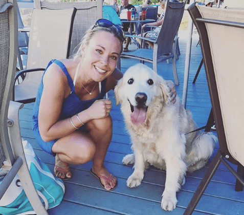 Kate Gosselin and her pet dog