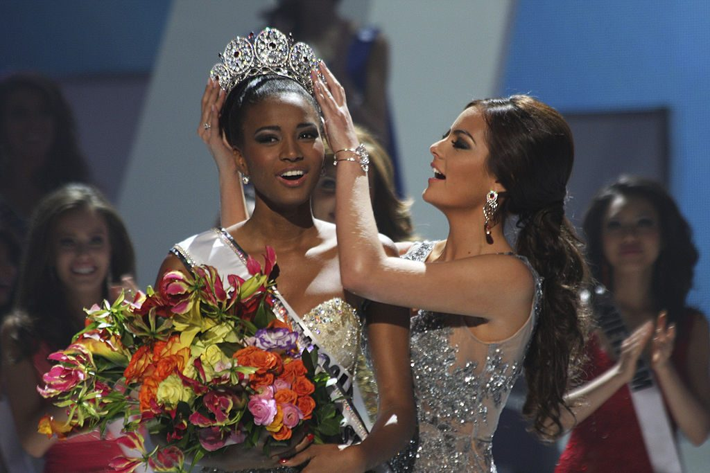 Leila Lopes at 2011 Miss Universe