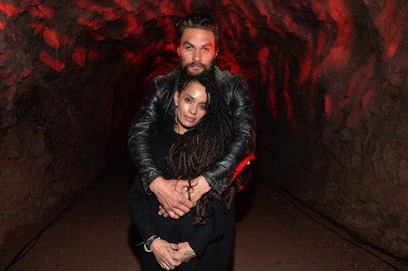 """Actors Lisa Bonet and Jason Momoa attend a screening of Sundance Channel's """"The Red Road"""" at The Bronson Caves at Griffith Park"""