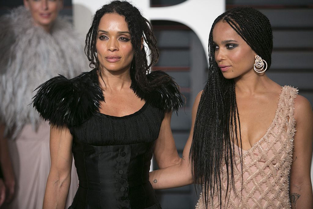 Lisa Bonet and Zoë Kravitz arrive to the 2015 Vanity Fair Oscar Party February 22, 2015 in Beverly Hills, California