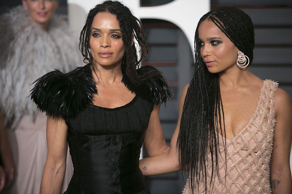 Lisa Bonet and Zoë Kravitz arrive to the 2015 Vanity Fair Oscar Party February 22, 2015 in Beverly Hills, California