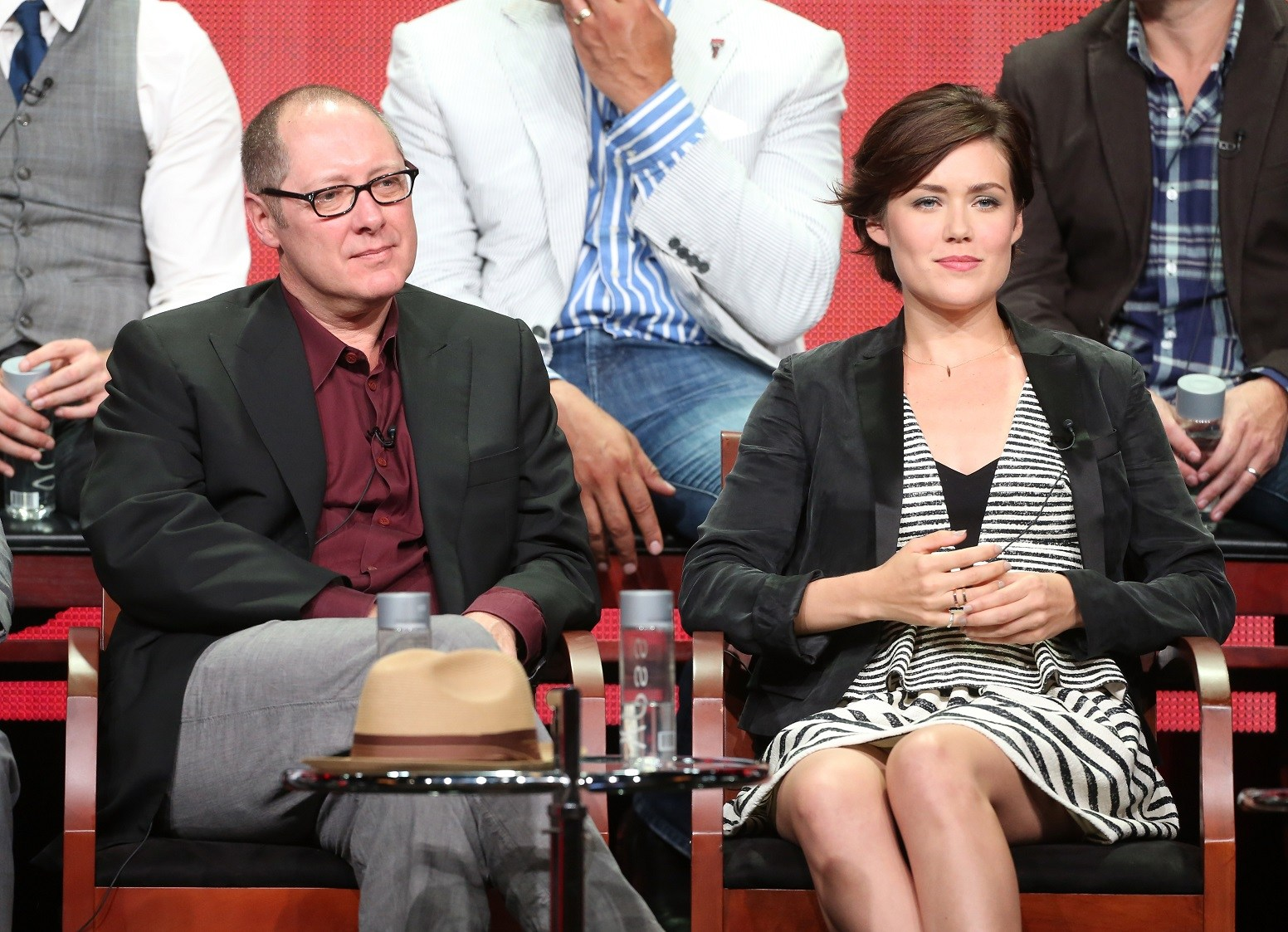 James Spader and Megan Boone from NBC's The Blacklist