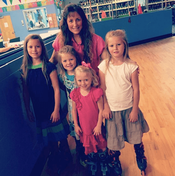 Michelle Duggar with family