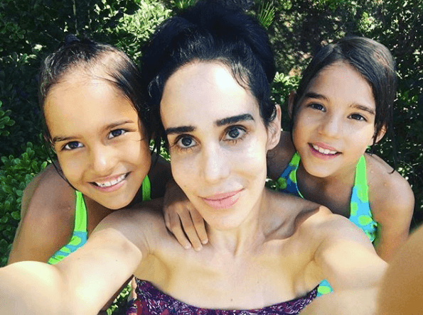 """Octomom"" Nadya Suleman with her kids"