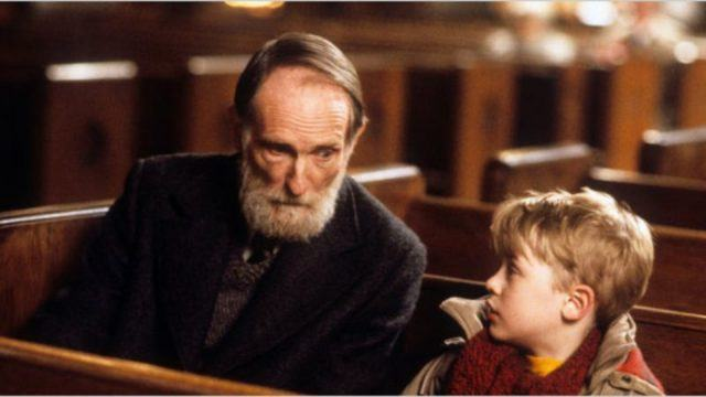 "Old Man Marley and Kevin in ""Home Alone"""