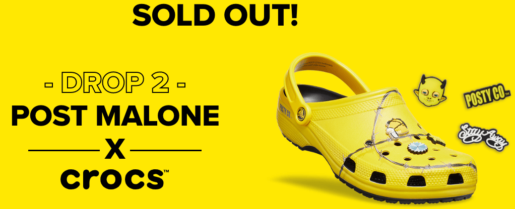 Post Malone's yellow Crocs