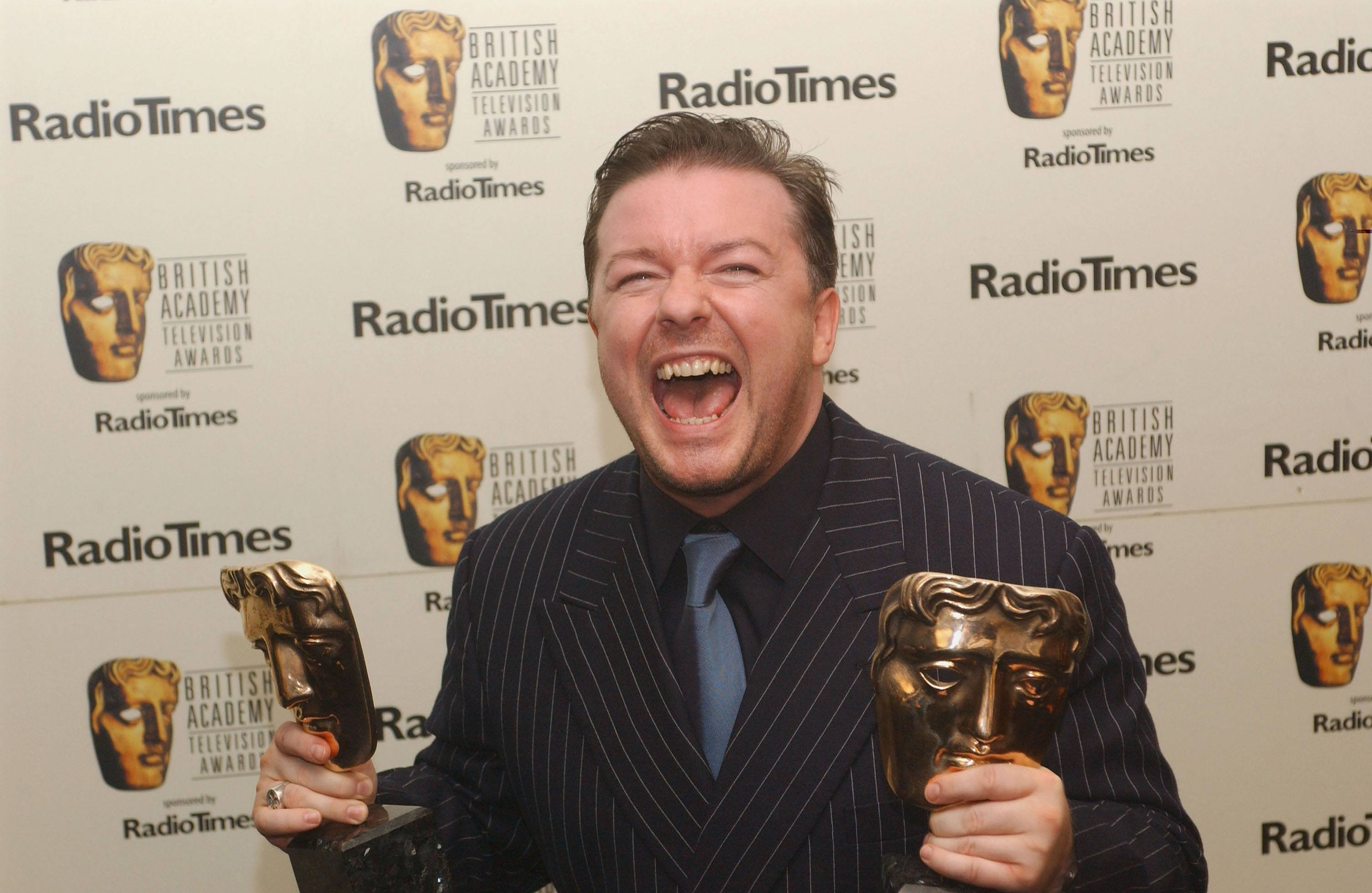 Ricky Gerves at the British Academy of Television Awards in 2004