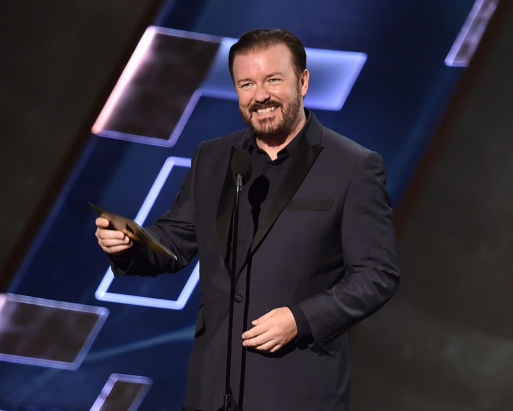 Ricky Gervais hosting the 67th Golden Globe Awards in 2015.