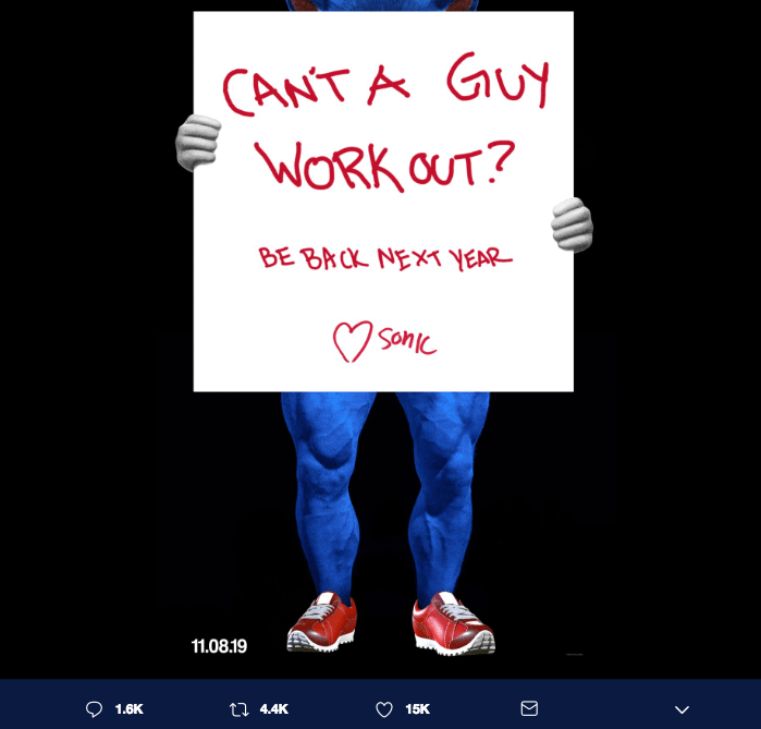 Sonic asking if it's ok to workout