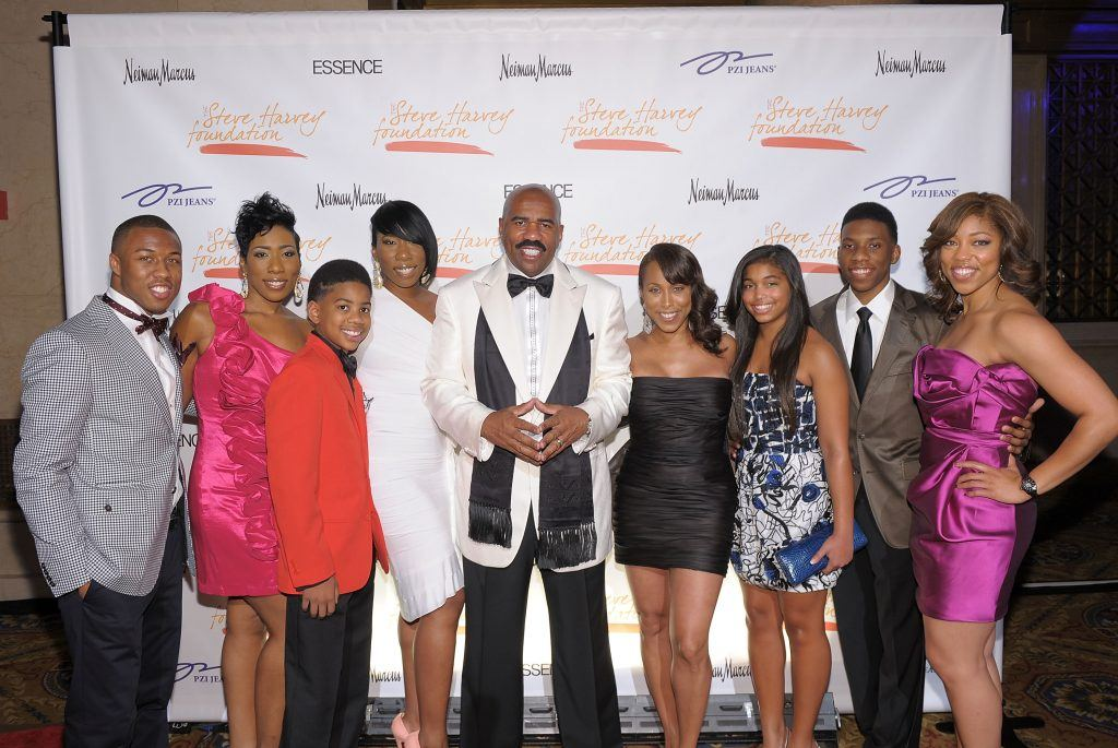 Steve Harvey and his family