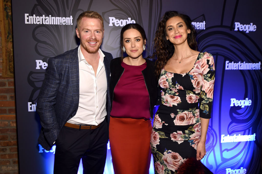 Diego Klattenhoff, Megan Boone and Mozhan Marno from NBC's The Blacklist.
