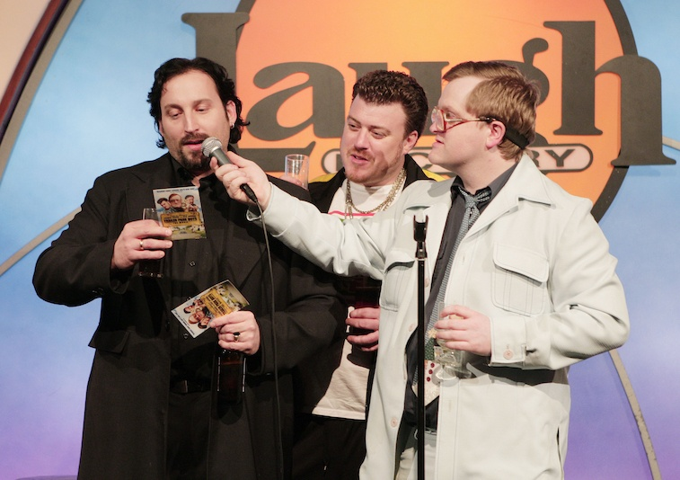 Actors John Paul Tremblay (L), actor/writer Robb Wells and actor Mike Smith