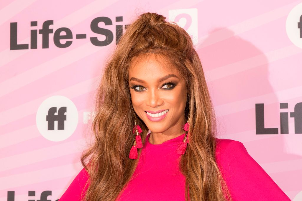 """Model and actress Tyra Banks arrives for the world premiere of """"Life-Size 2"""