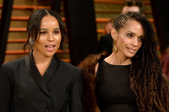 Actresses Zoe Kravitz (L) and Lisa Bonet attend the 2014 Vanity Fair OscParty hosted by Graydon Carter on March 2, 2014 in West Hollywood, California.