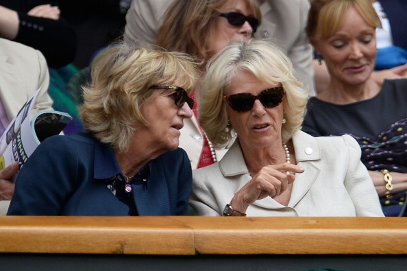 Camilla, Duchess of Cornwall and Annabel Elliot