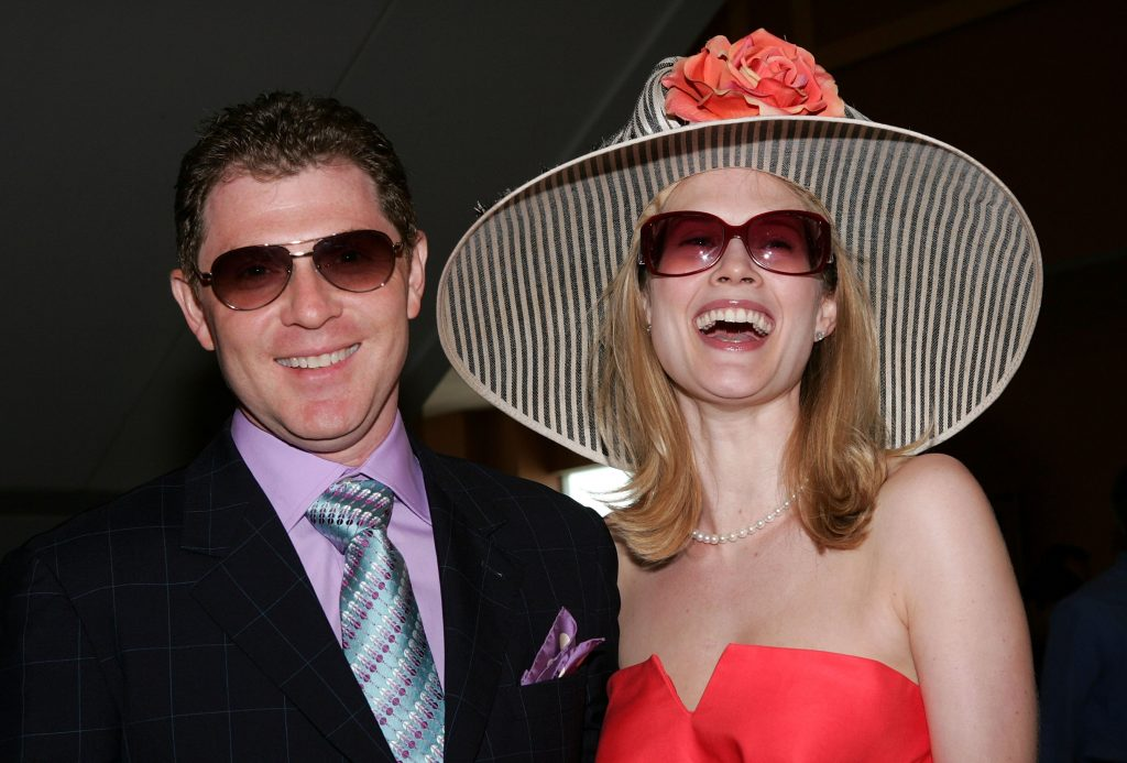 Bobby Flay and actress Stephanie March attend the 132nd Kentucky Derby