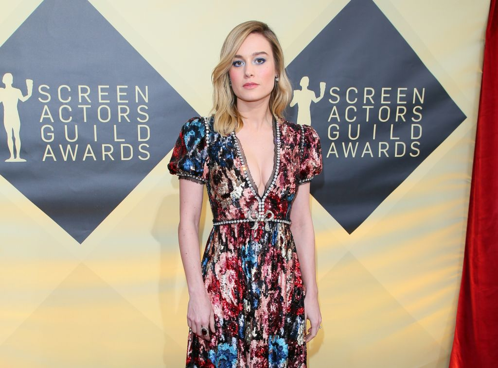 Brie Larson arrives for the 24th Annual Screen Actors Guild Awards at the Shrine Exposition Center on January 21, 2018, in Los Angeles, California.