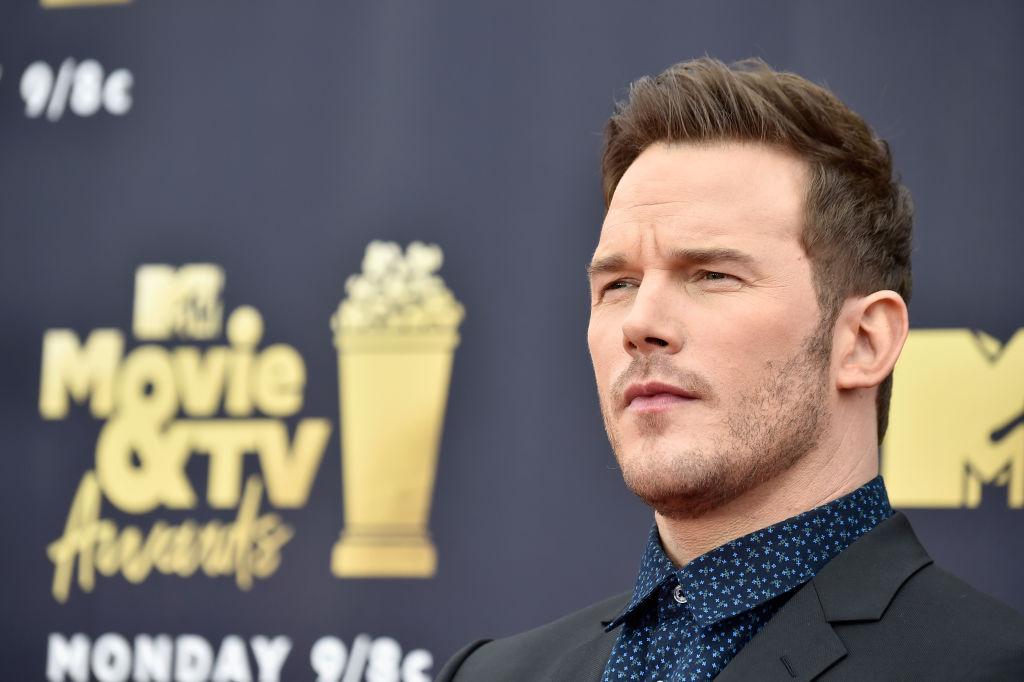Chris Pratt attends the 2018 MTV Movie And TV Awards at Barker Hangar on June 16, 2018 in Santa Monica, California.