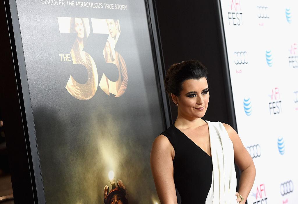 "Cote de Pablo attends the premiere of the movie ""The 33"""