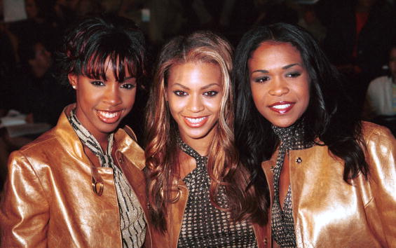 """Kelly Rowland, Beyonce Knowles, and Michelle Williams of the group """"Destiny's Child"""
