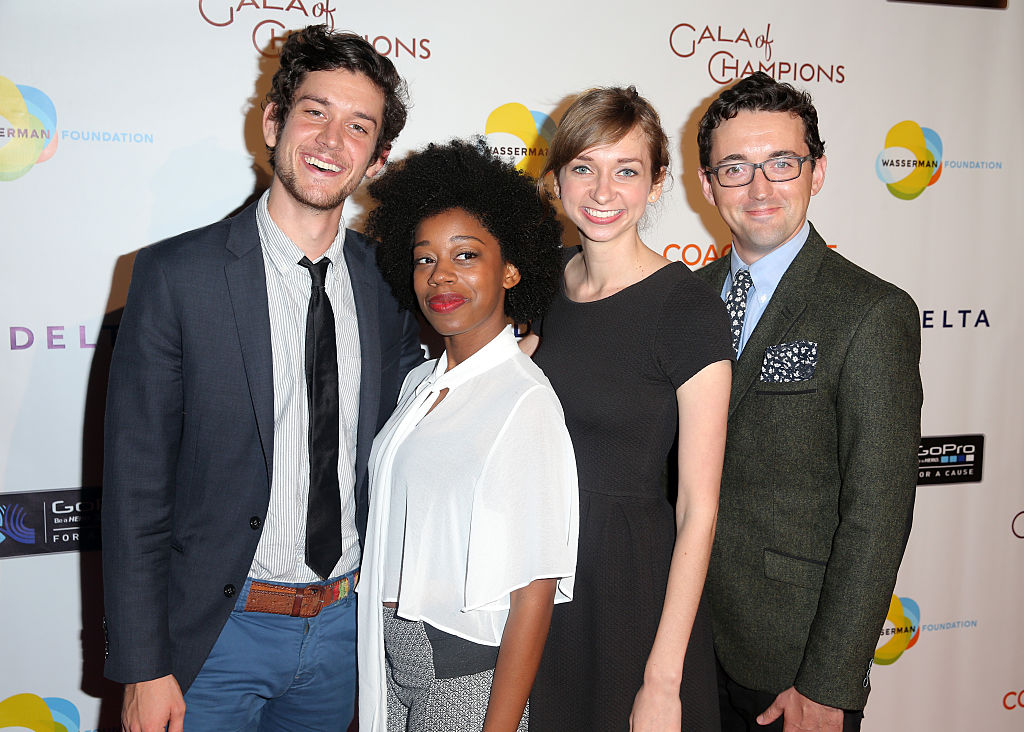 Diona Reasonover (second from left) and Clipped co-stars Mike Castle, Lauren Lapkus and Matt Cook