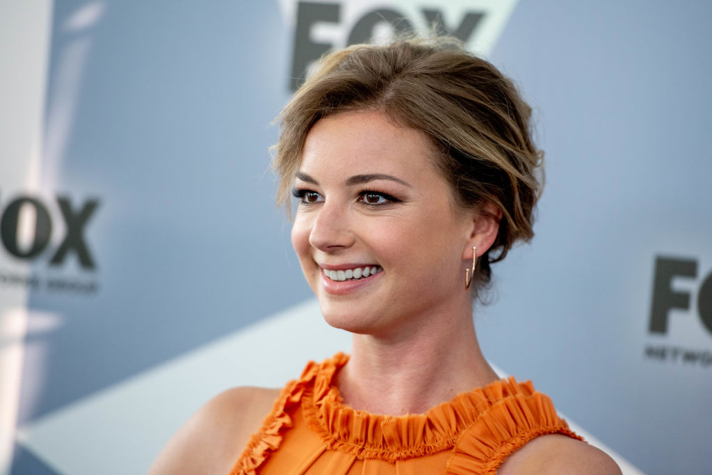 Emily VanCamp attends the 2018 Fox Network Upfront at Wollman Rink, Central Park on May 14, 2018 in New York City.