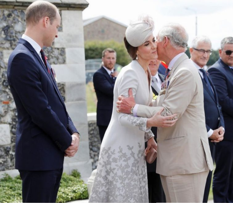 Prince William, Kate Middleton, and Prince Charles