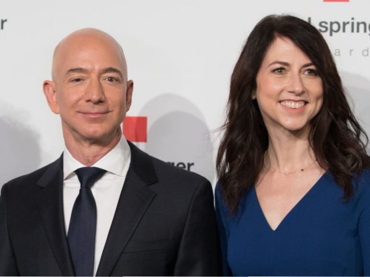 Amazon CEO Jeff Bezos and his wife MacKenzie Bezos