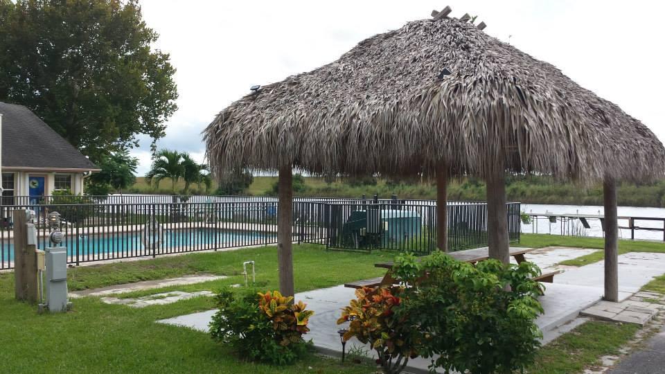 Tiki hut with pool