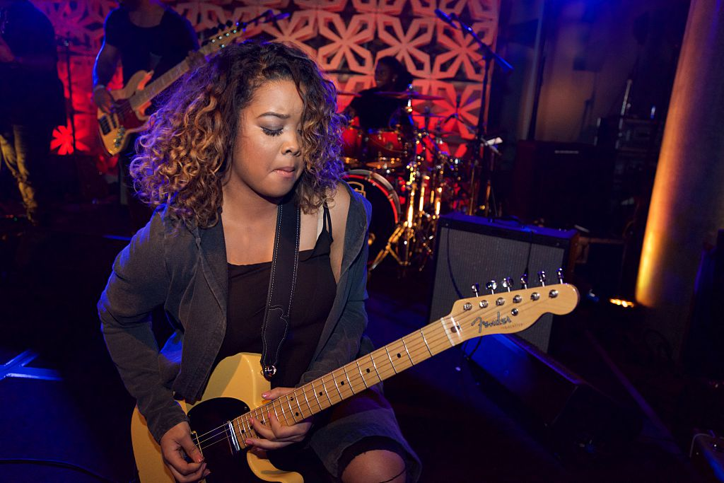 Gabi Wilson performs at the BET Music Matters Grammy Showcase at W Hollywood on February 13, 2016 in Hollywood, California.