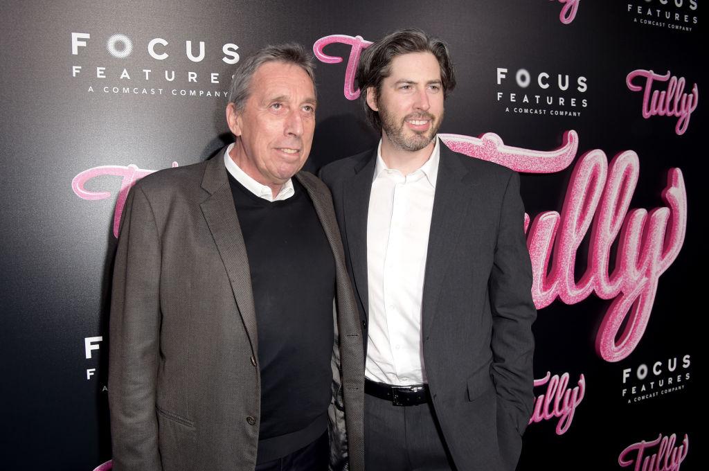 Jason Reitman with dad Ivan Reitman in 2018.