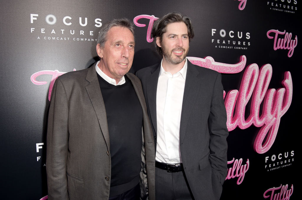 Jason Reitman with dad Ivan Reitman in 2018.