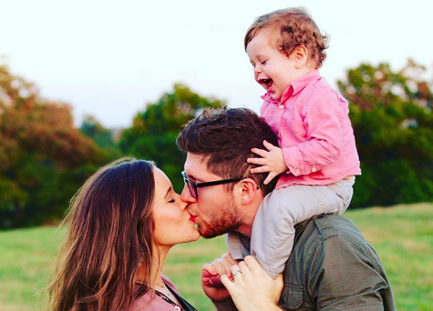 Jessa Duggar with her husband and child