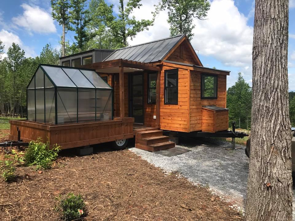 Wooden tiny house
