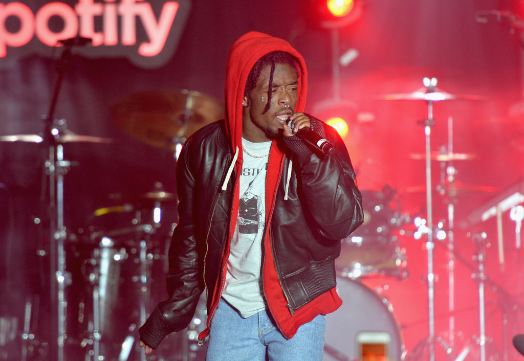 """Lil Uzi Vert performs at """"Spotify's Best New Artist Party"""" at Skylight Clarkson on January 25, 2018 in New York City."""