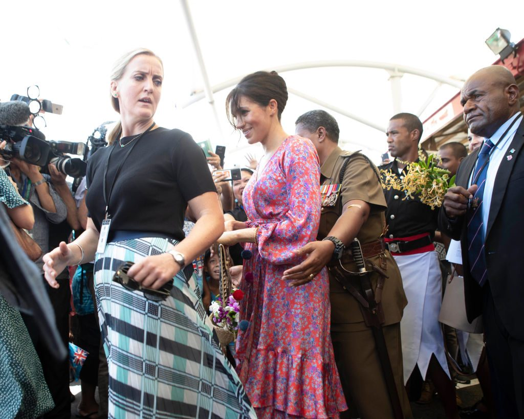 Meghan, Duchess of Sussex, visits a market in Suva, Fiji