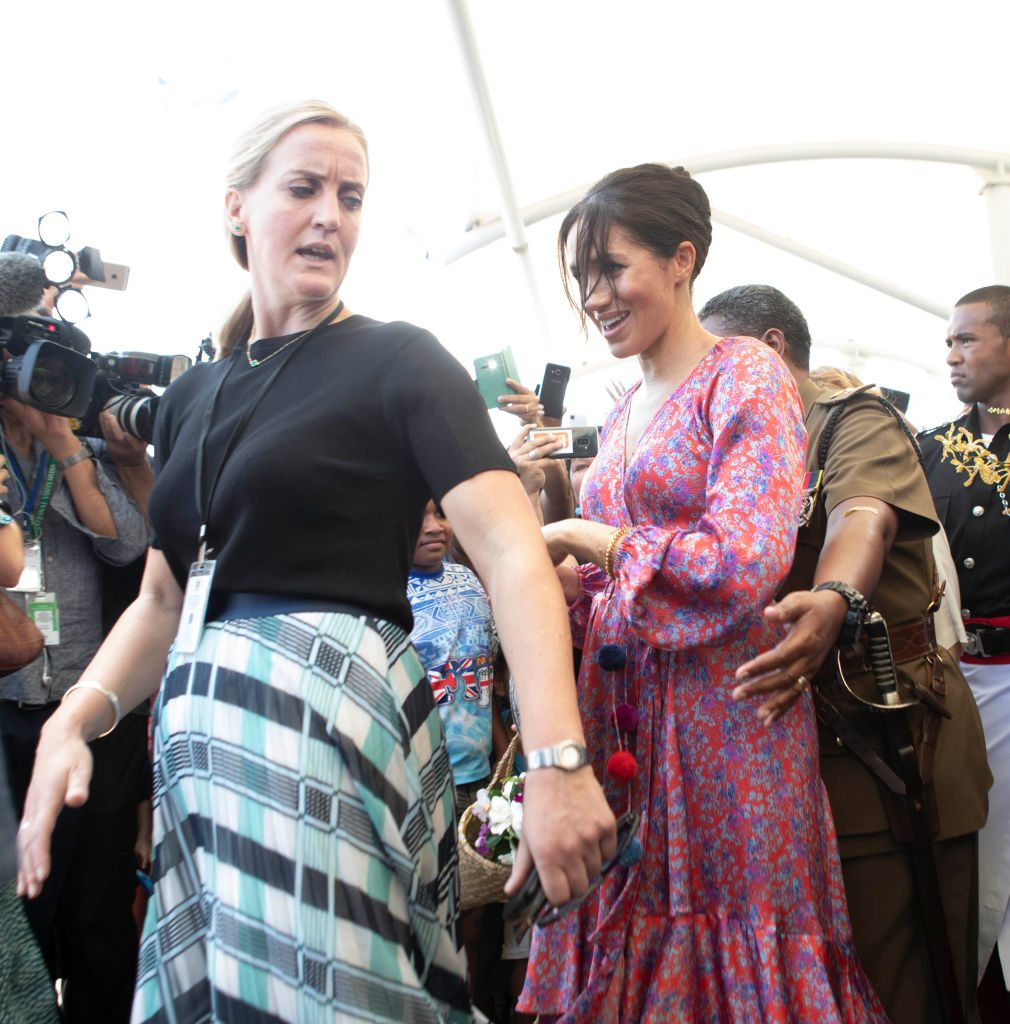 Meghan, Duchess of Sussex, visits a market in Suva, Fiji.