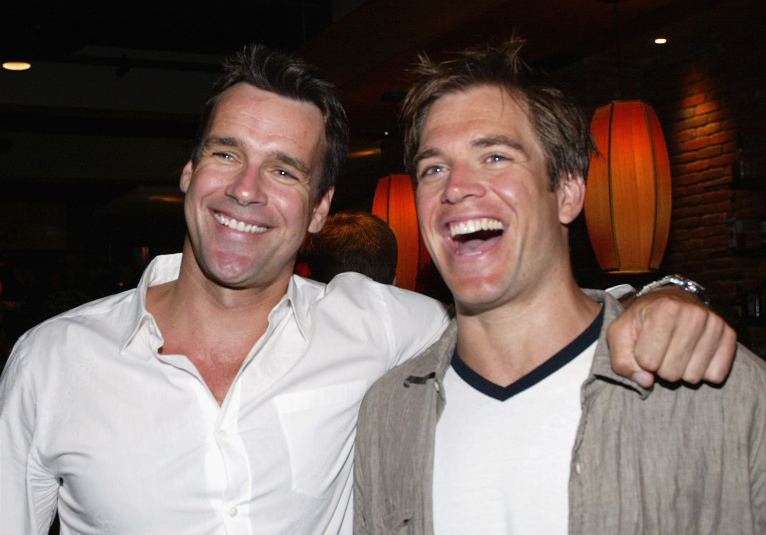 David James Elliot and Michael Weatherly from JAG and NCIS, respectively