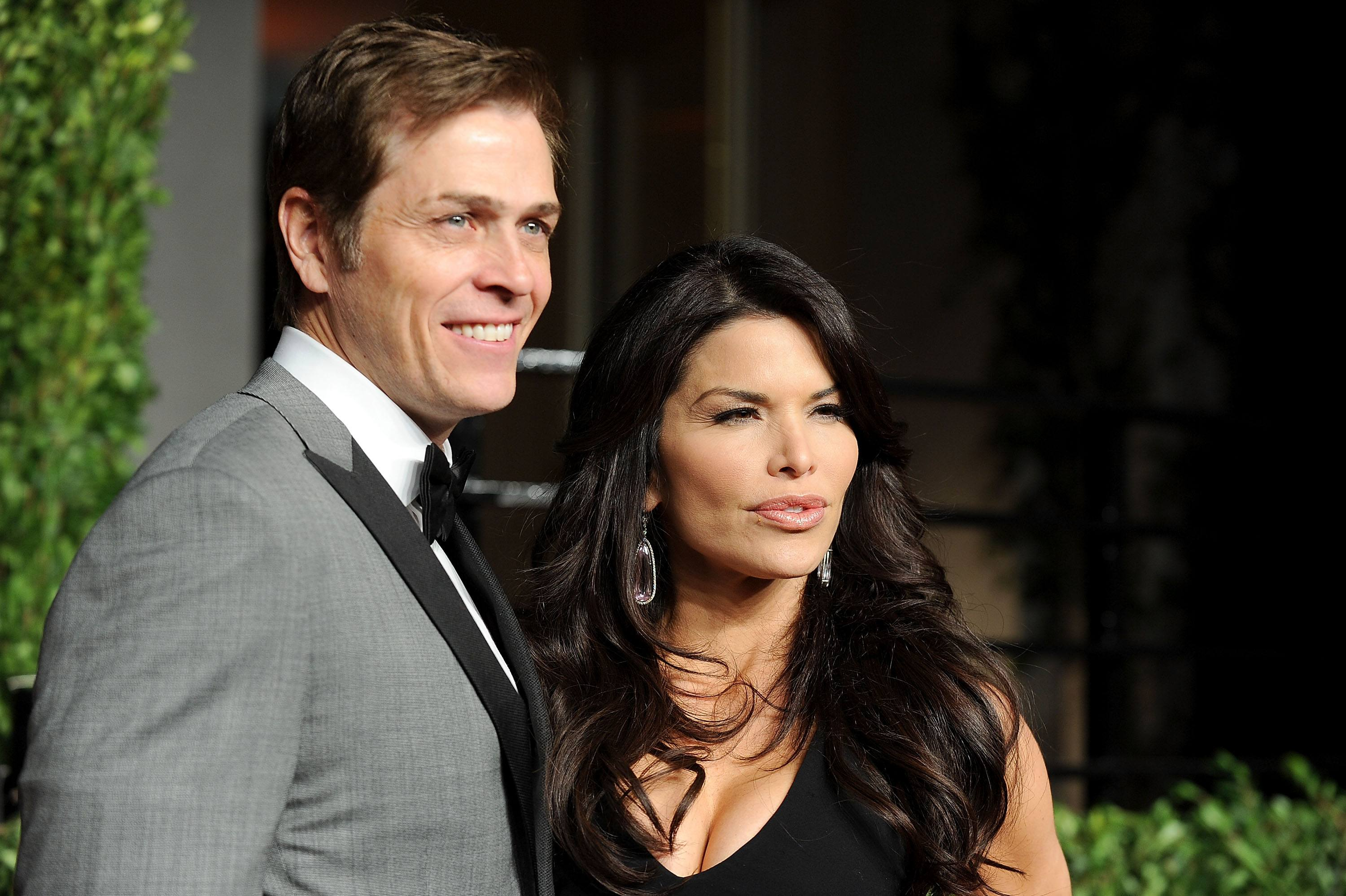 Patrick Whitesell and Lauren Sanchez arrive at the Vanity Fair Oscar party