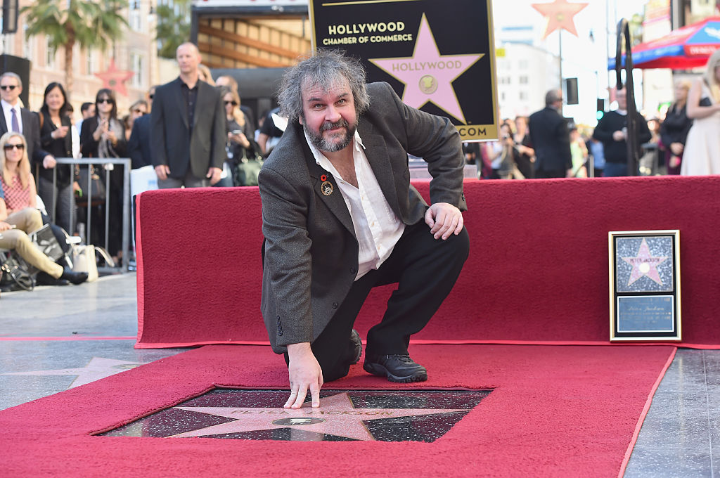 Director Peter Jackson receives his star on the Hollywood Walk of Fame in 2014