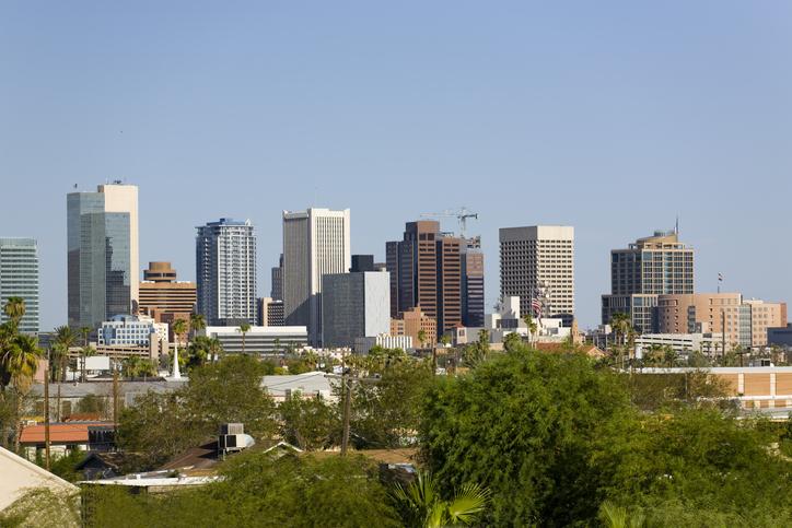 Phoenix, AZ skyline