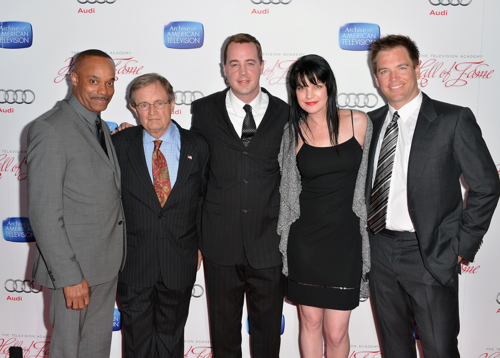 Rocky Carroll, David McCallum, Sean Murray, Pauley Perrette and Michael Weatherly.