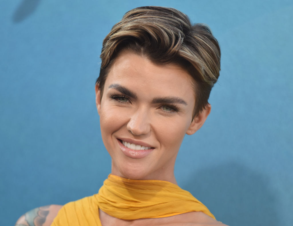 "Ruby Rose attends the US premiere of Warner Brothers Pictures ""The Meg"" in Los Angeles, California, on August 06, 2018."