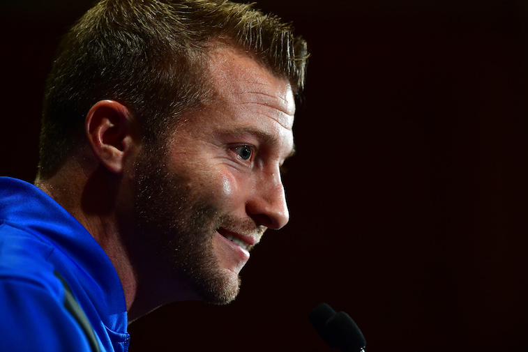 Head Coach Sean McVay of the Los Angeles Rams