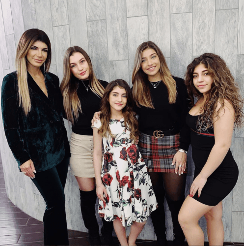 Teresa Giudice with her four daughters